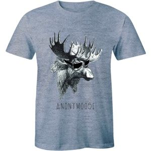 Anonymoose Funny Moose In Sunglasses T-shirt Tee